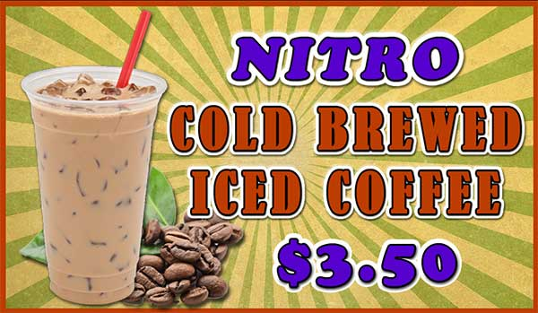 DRIP Nitro Cold Brew Coffee Menu